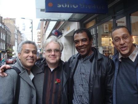 De gauche à droite Ahmed Ghazali, Jonathan Meth, Alain Foix, Gabriel Gbadamosi
